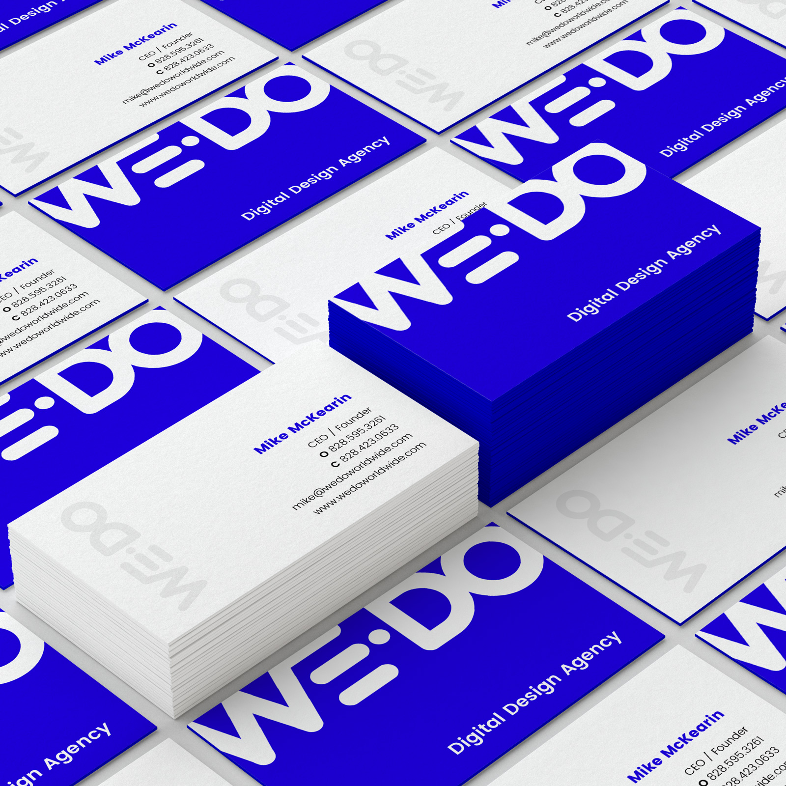 WE•DO design agency business card designs