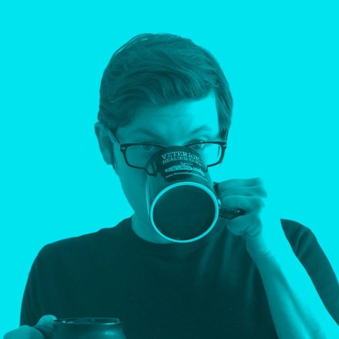 heather drinking that sweet caffeine