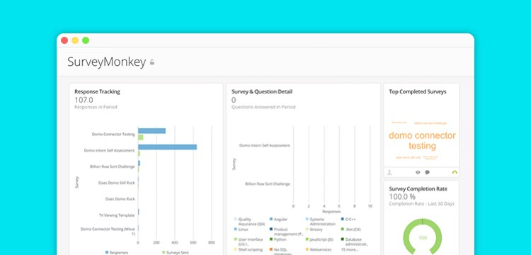 try survey monkey as part of your performance tools and kpis