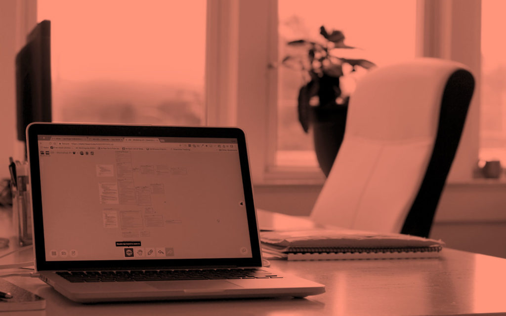 computer screen showing a subtask in the web design process