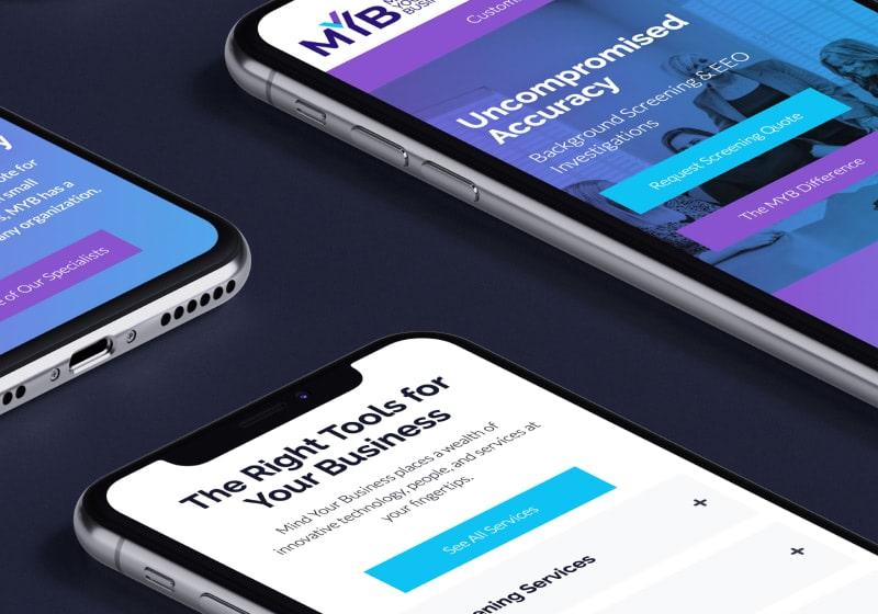 MYB mobile site mockup