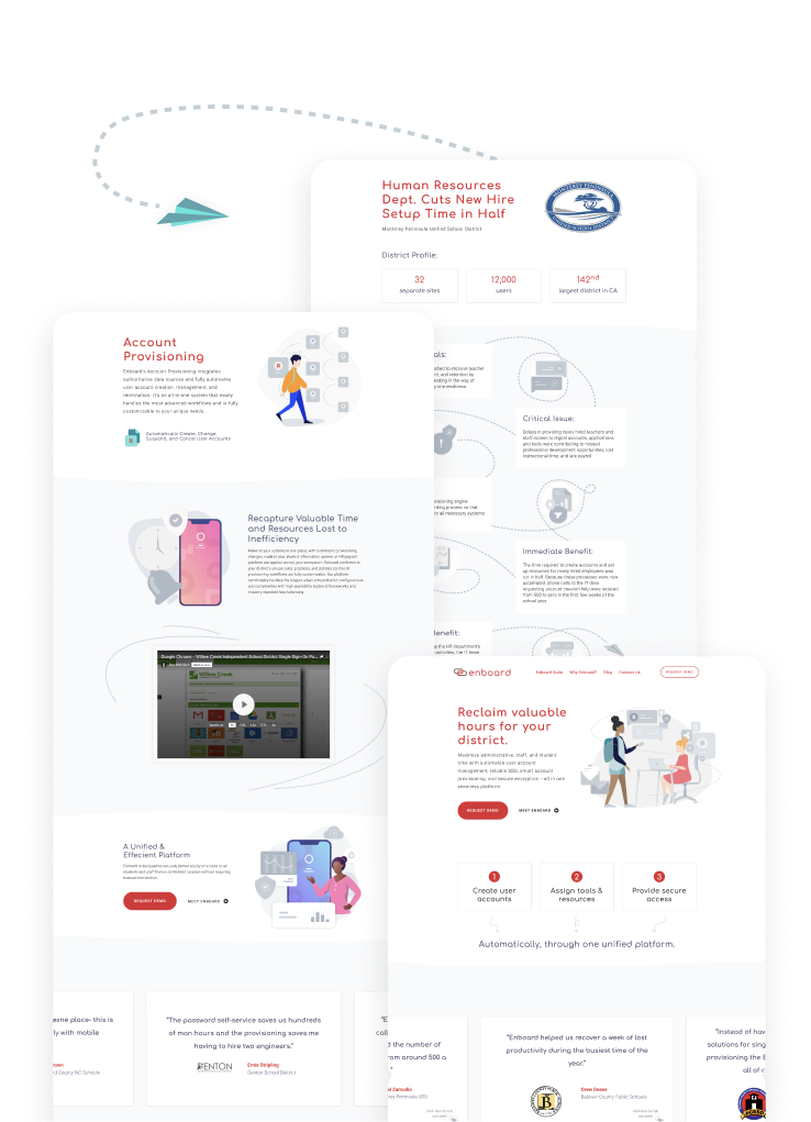 Enboard case study website graphic