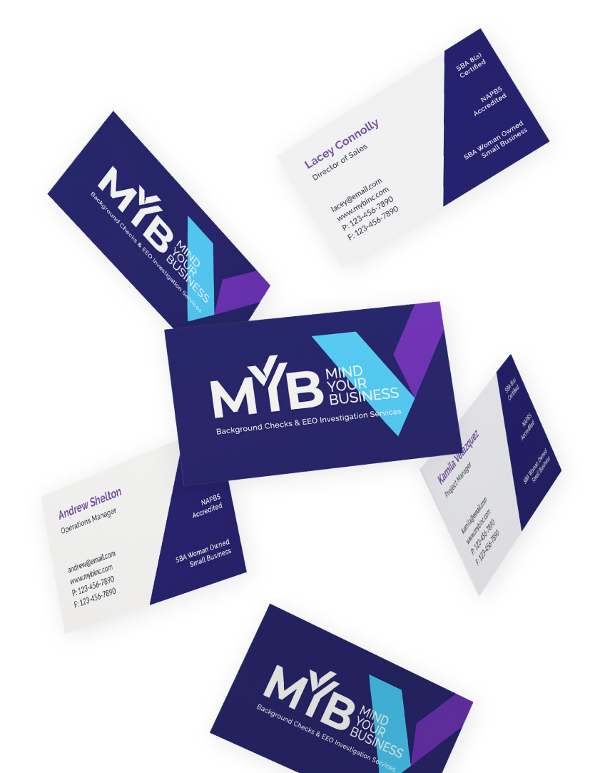 MYB case study flying business cards